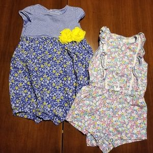 Two pack Carter's body suits